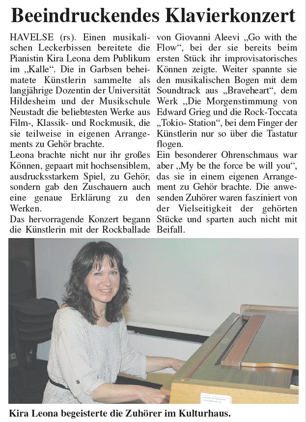 Kira Leona Pressebericht